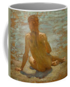 Sketch Of Nude Youth Study For Morning Spelendour Coffee Mug