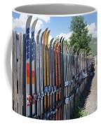 Ski Fence Coffee Mug