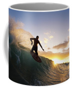 Skimboarding At Sunset I Coffee Mug