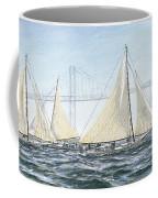 Skipjacks Racing Chesapeake Bay Maryland Detail Coffee Mug by G Linsenmayer