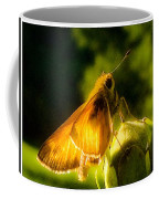 Skipper Butterfly With Sun Shine Coffee Mug