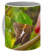 Skipper Trying To Hide Behind A Flower Coffee Mug
