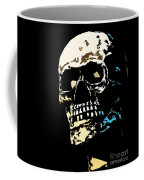 Skull Against A Dark Background Coffee Mug by Nick  Biemans