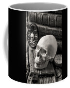 Skull And Skeleton Key Coffee Mug by Garry Gay