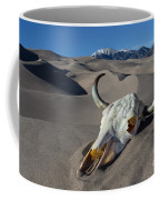 Skull At The Great Sand Dunes Coffee Mug