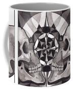 Skull Mandala Series Nr 1 Coffee Mug by Deadcharming Art