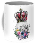 Skull Queen With Flowers Coffee Mug