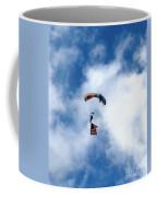 Skydiver With Flag Coffee Mug