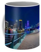skyline and river coast scenes in Jacksonville Florida Coffee Mug