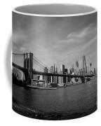 Skyline And The Brooklyn Bridge Coffee Mug