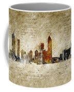 skyline of Atlanta in modern and abstract vintage-look Coffee Mug