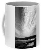 Skyscape At Carmel Beach B And W Coffee Mug