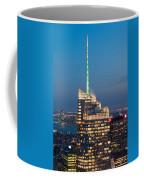 Skyscraper Lit Up At Night, One World Coffee Mug