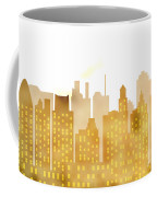 Skyscrapers - Panorama Of Modern Skyscraper Town Coffee Mug
