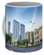 Skyscrapers And Road In Downtown Xiamen City China Coffee Mug