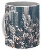 Skyscrapers View From Above Building 83641 3840x1200 Coffee Mug