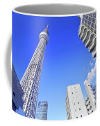 Skytree In Blue Coffee Mug