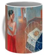 Sleeping Child Coffee Mug by Kuzma Sergeevich Petrov Vodkin