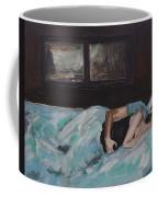 Sleeping In Coffee Mug by Leslie Allen