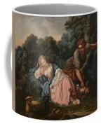 Sleeping Maiden In A Woodland Landscape Coffee Mug