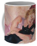 Sleeping With Fur Coffee Mug