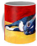 Sleepy Boston Terrier Dog  Coffee Mug