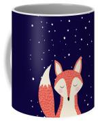 Sleepy Fox Coffee Mug by Krokoneil