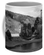 Sleepy Hollows Farm Woodstock Vermont Vt Pond Black And White Coffee Mug