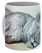Slepping Lion Coffee Mug