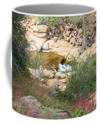 Slide Rock With Pink Wildflowers Coffee Mug
