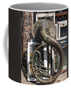Slightly Worn Out Vintage Tuba Seeks New Home Coffee Mug