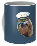 Sloth Aviator Glasses Captain Hat Sloths In Clothes Coffee Mug