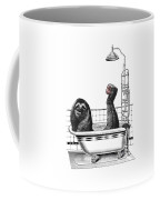 Sloth In Bathtub Taking A Shower Coffee Mug