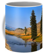 Slough Creek Afternoon Panrama Coffee Mug