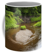 Slow River In Deep Forest Landscape Coffee Mug