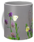Small Butterflies Sipping Flower Nectar Coffee Mug