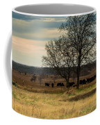 Small Herd In Winter Coffee Mug