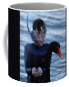 Small Human Meets Black Swan Coffee Mug