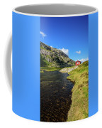 Small Red Cabin In Norway Coffee Mug