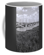 Small Sailboat Harbor Monochrome  Coffee Mug