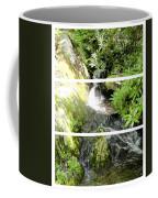 Small Waterfall Smoky Mountains Triptych Coffee Mug