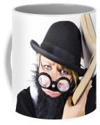 Smart Woman Researching Info Coffee Mug