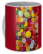 Smiley Face Button Coffee Mug