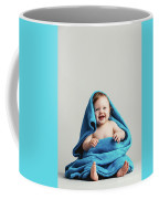 Smiling Baby Tucked In A Warm Blanket Coffee Mug