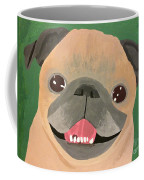 Smiling Senior Pug Coffee Mug