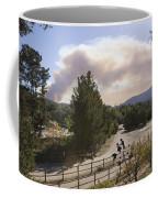 Smoke From Ventura Wildfire, View Coffee Mug