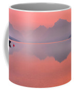 Smokey Pink Over Lake Mcdonald Coffee Mug