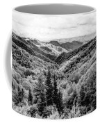 Smoky Mountains In Black And White Coffee Mug