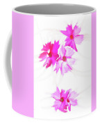 Smudged Floating Pink Flowers Coffee Mug