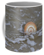 Snail In The Surf Coffee Mug